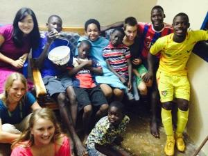 birthday party with malaria boy